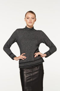 Pewter / Charcoal Two Tone Turtle Neck
