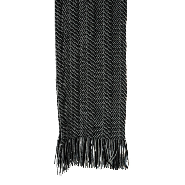Black Herringbone Scarf