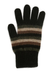 Black Multi Striped Glove