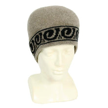 Load image into Gallery viewer, Natural/Black Single Koru Beanie