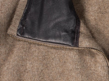 Load image into Gallery viewer, Mocha  Leather Trim Vest