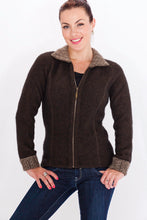 Load image into Gallery viewer, Espresso/Mocha Two Tone Trim Jacket