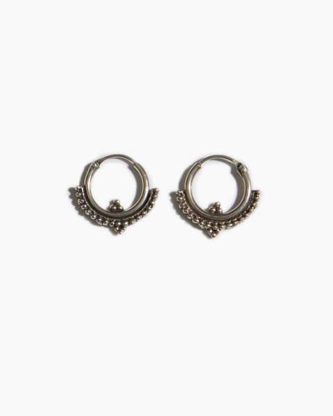 Fashionology - Oorbellen - Poppy hoop  - Zilver - 10mm