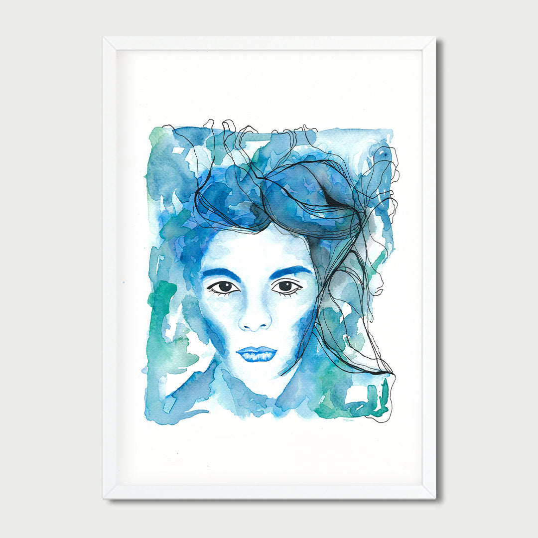 Art Print Man like blue