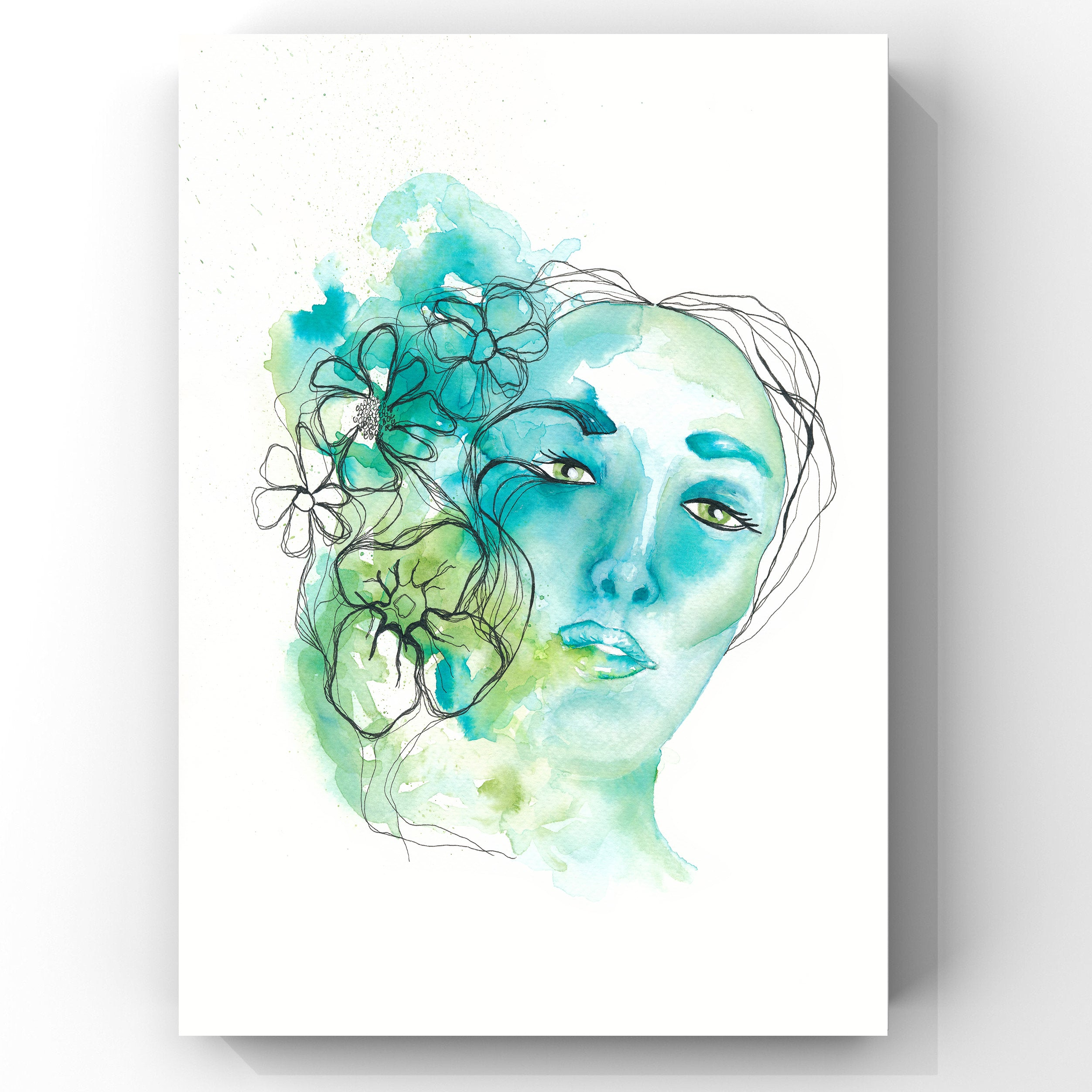 Art Print Green flower