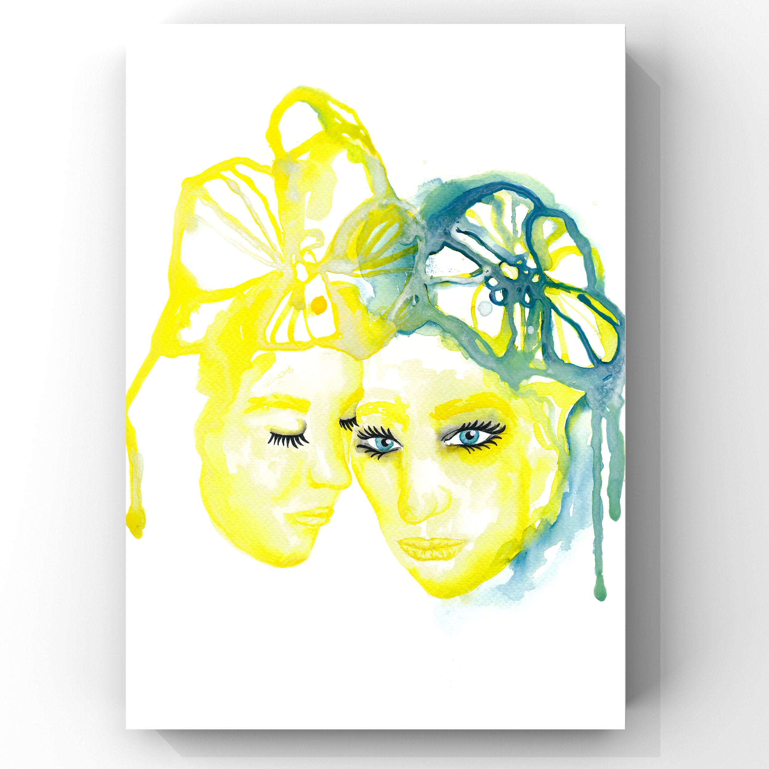 Art Print Yellow Ladies (SALE)