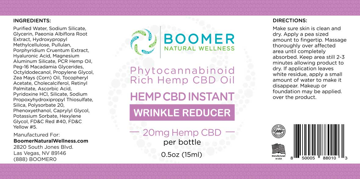 Hemp CBD Instant Wrinkle Reducer