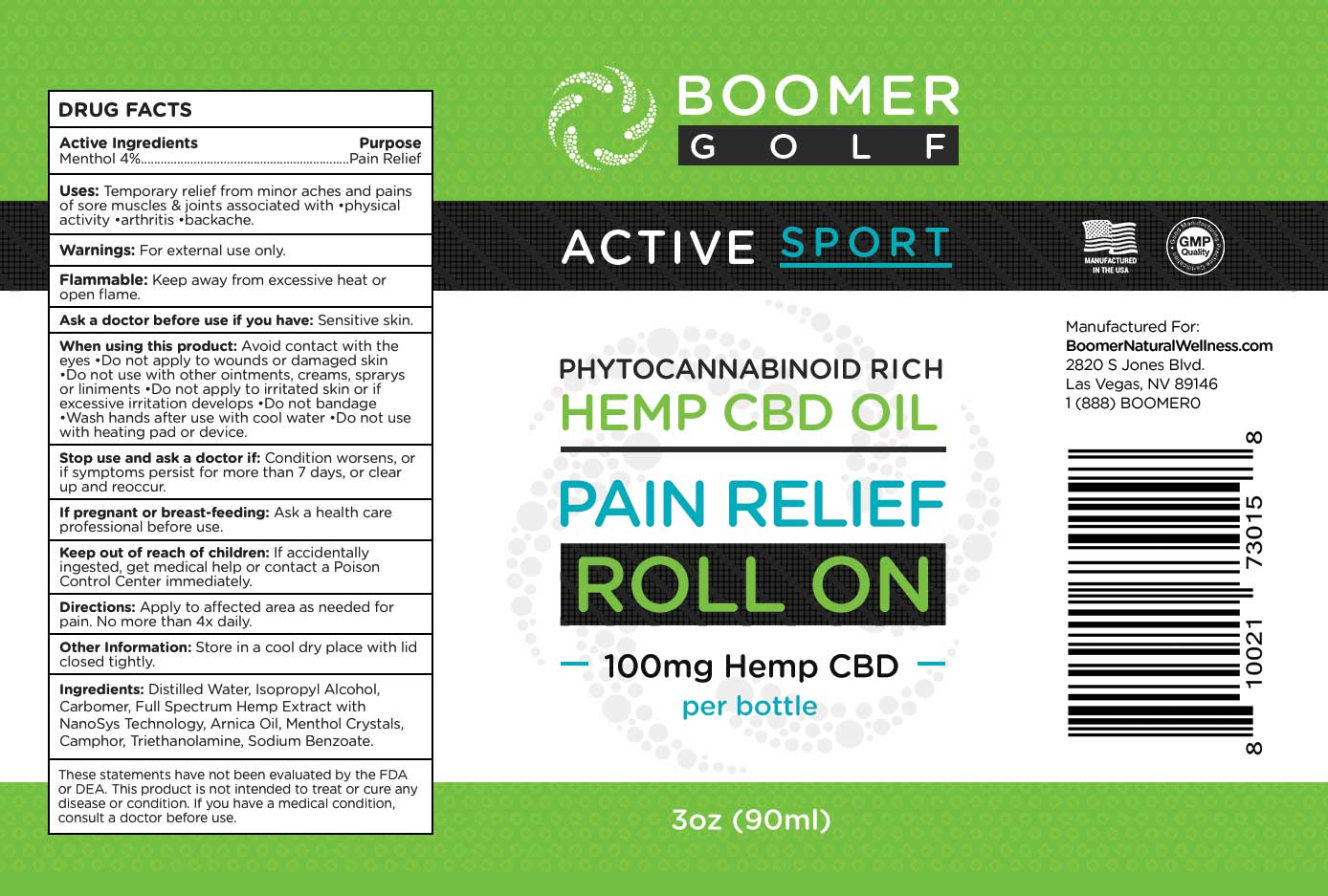 Golf Pain Relief Roll-On