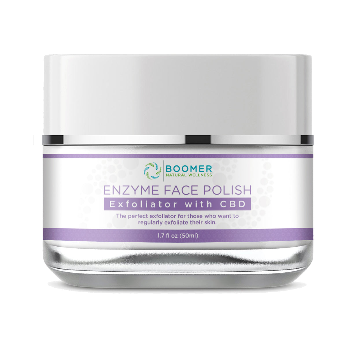 Enzyme Face Polish Exfoliator Infused with CBD