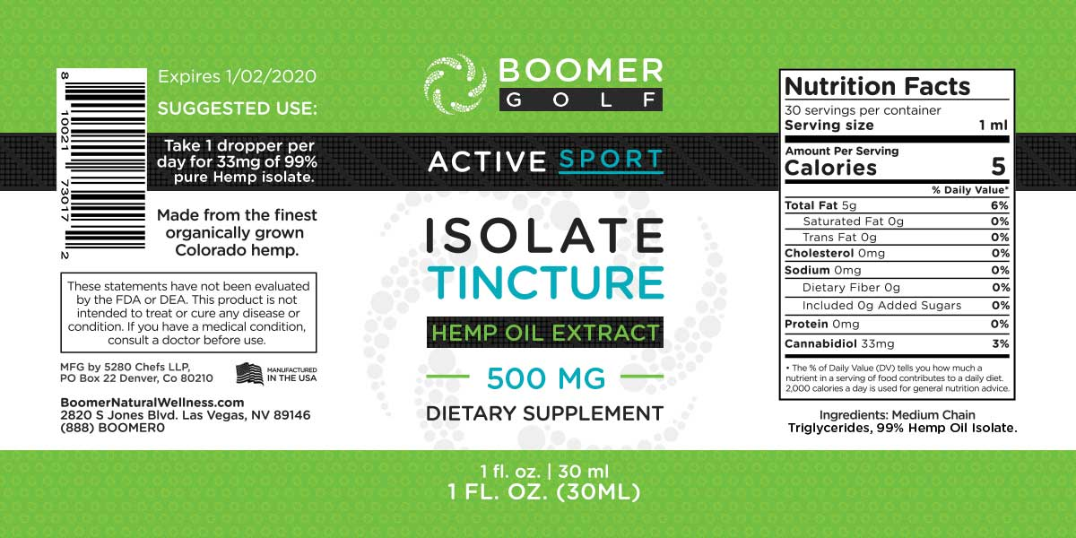 Golf Isolate Tincture 1,000mg