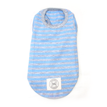 Load image into Gallery viewer, Stripe t-shirt (baby blue)