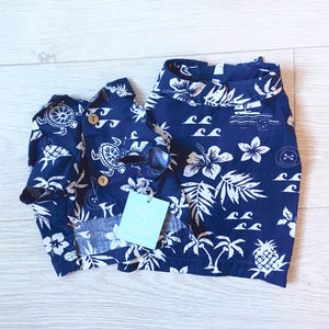 Hawaiian shirt Navy