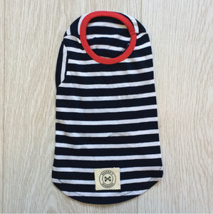 Wide stripe tee (Navy)