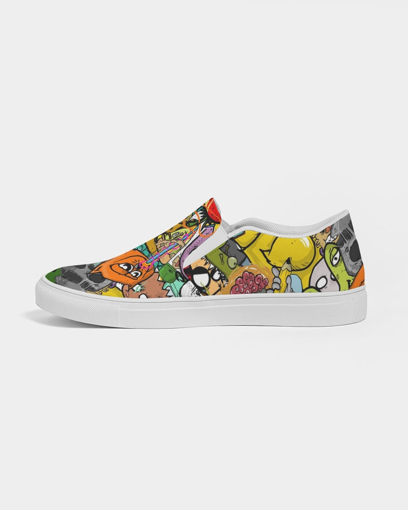 Crowded Street Men's Slip-On Canvas Shoe