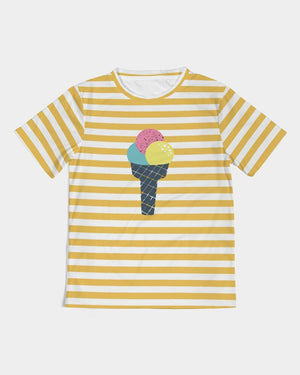 Bright Yellow Strips Kids Tee