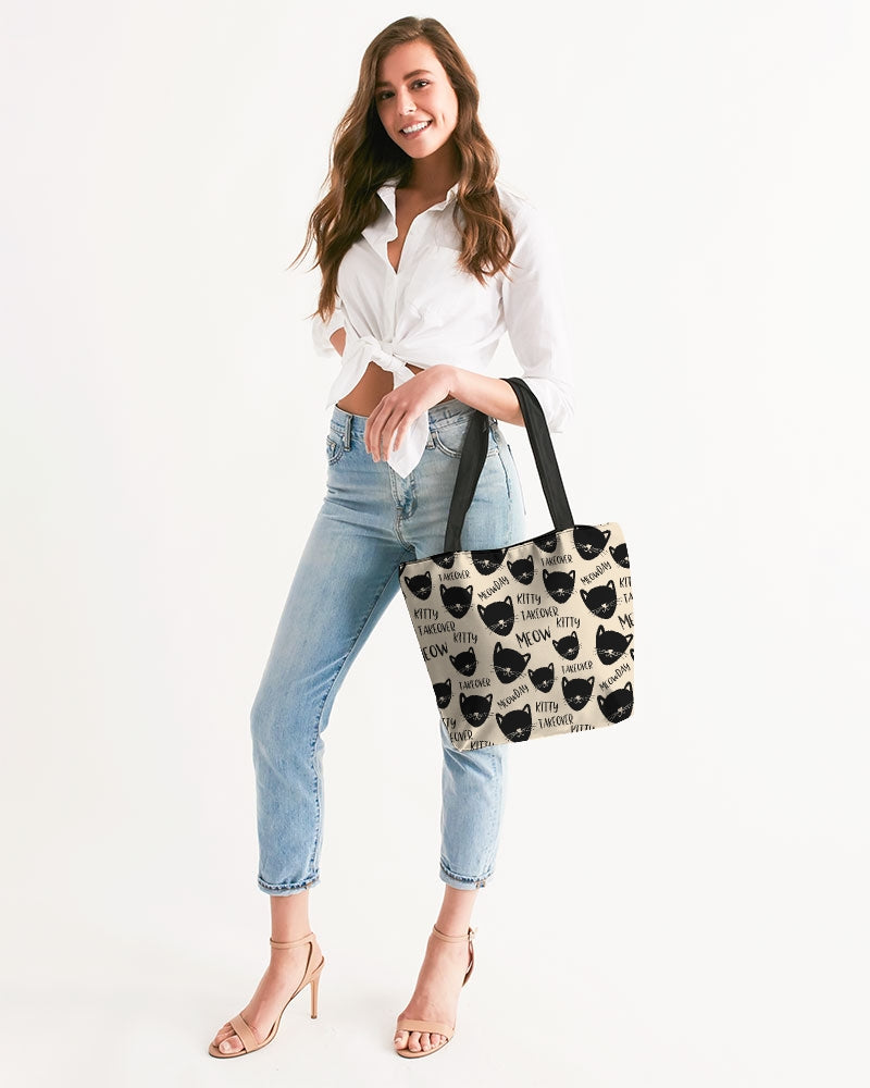 Kitty Takeover Canvas Zip Tote