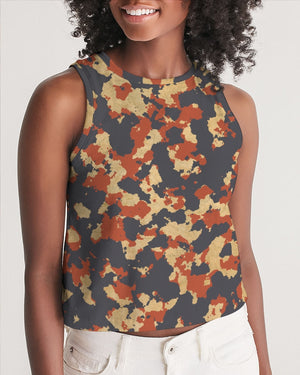 Military Red Women's Cropped Tank
