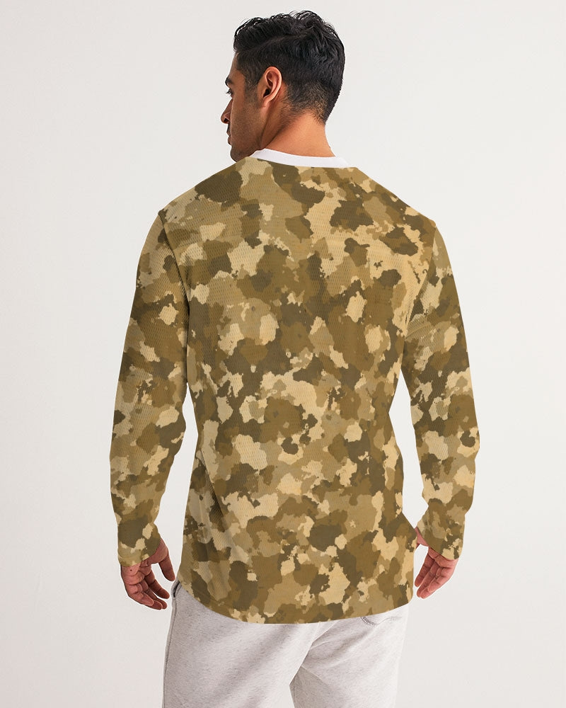 Military Pattern Men's Long Sleeve Sports Jersey
