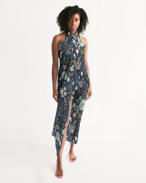 Blue Garden Swim Cover Up