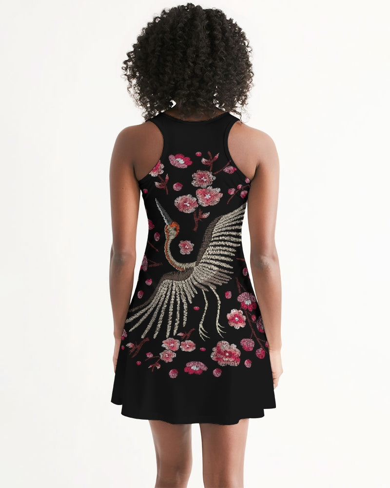 Embroidery  Plum Blossom Women's Racerback Dress