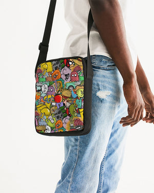 Crowded Street Messenger Pouch