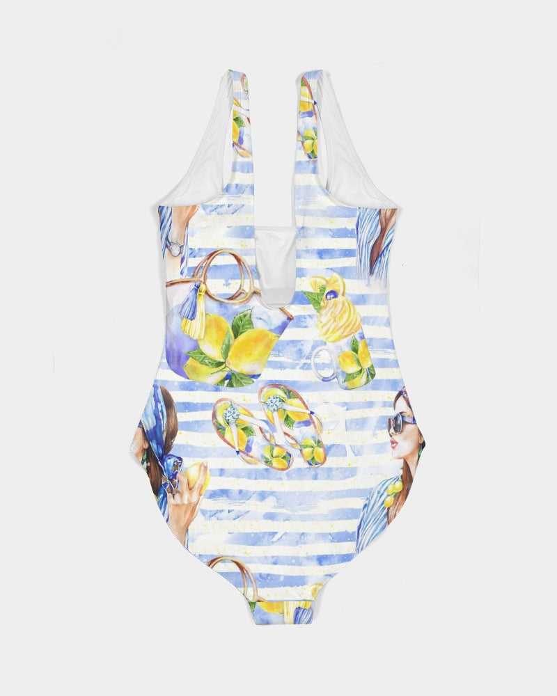 Lemons Fashion Women's One-Piece Swimsuit