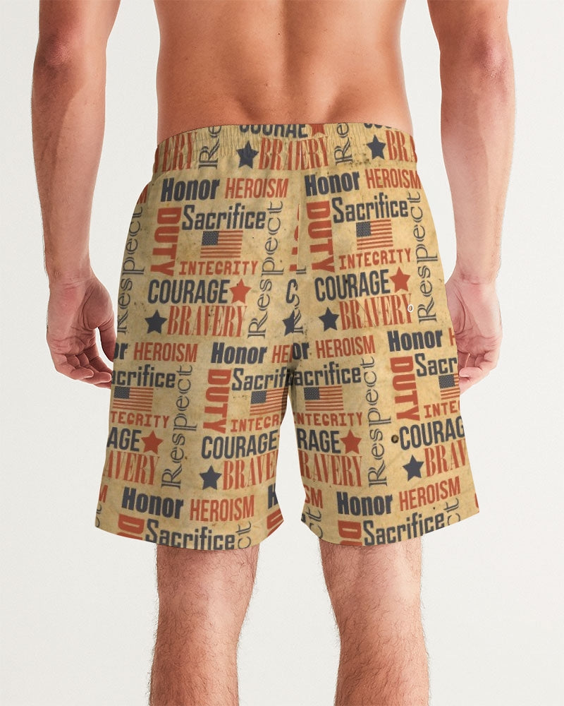 Military Spirit Men's Swim Trunk