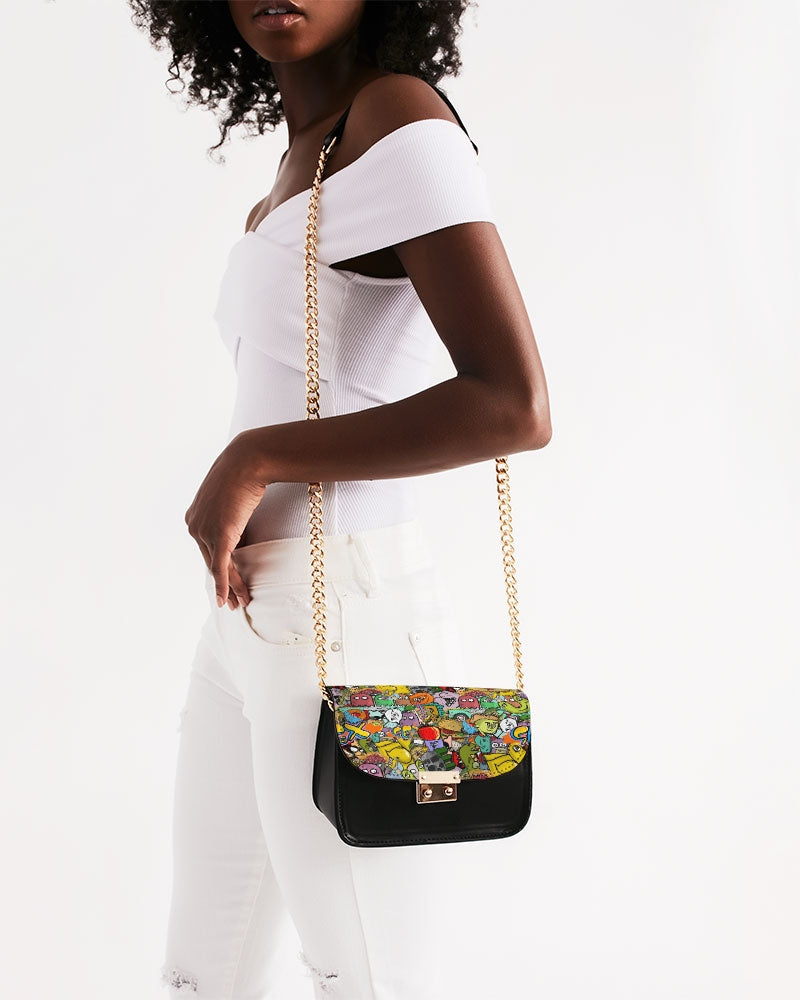 Crowded Street Small Shoulder Bag