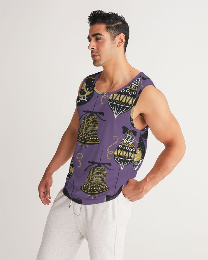 Pop Elements On Purple Men's Sports Tank