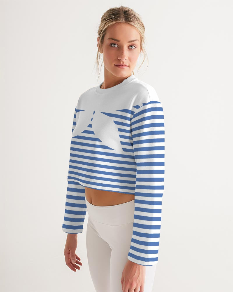 The Blue Sea Women's Cropped Sweatshirt