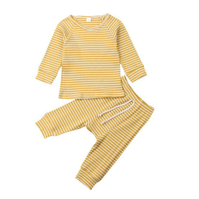 Ribbed Stripe Set (Multiple Colors)