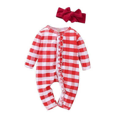 Red Gingham Pajamas + Bow