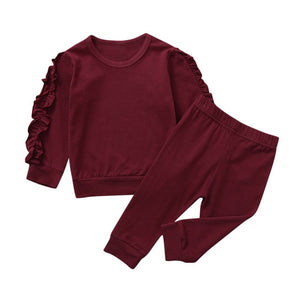 Ruffled Sleeve Set (Multiple Colors)
