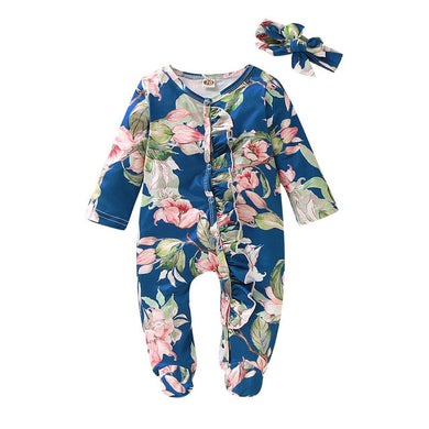 Floral Sleeper + Bow (Multiple Colors)
