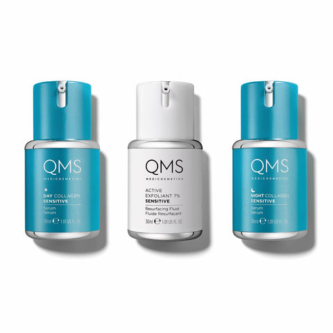 !QMS Collagen System Sensitive 3 step - GlowingSkin.nl