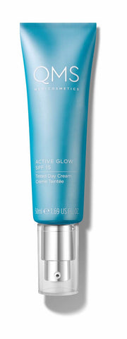 !QMS Active Glow spf 15 tinted - GlowingSkin.nl