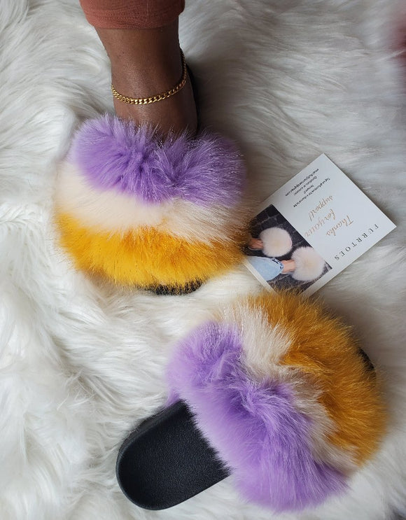 Purple touch women's slippers