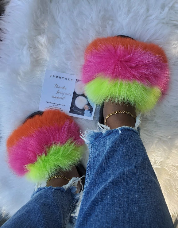Tutti fruitti colores women's slippers