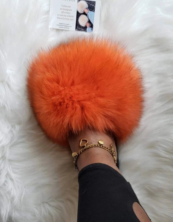 Orange Burst womens Slippers