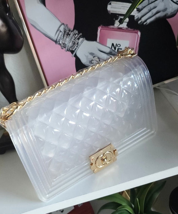 CLEAR DIAMOND HANG BAG