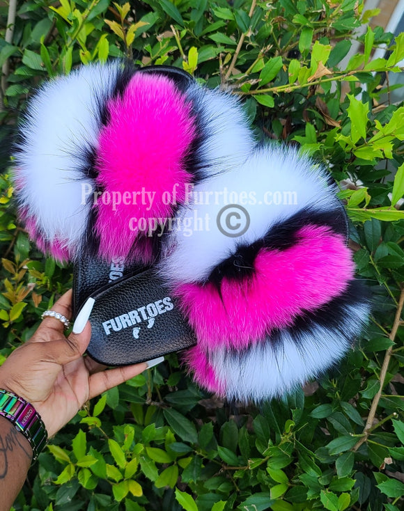 DOUBLE PINK FLUFFY IN STOCK