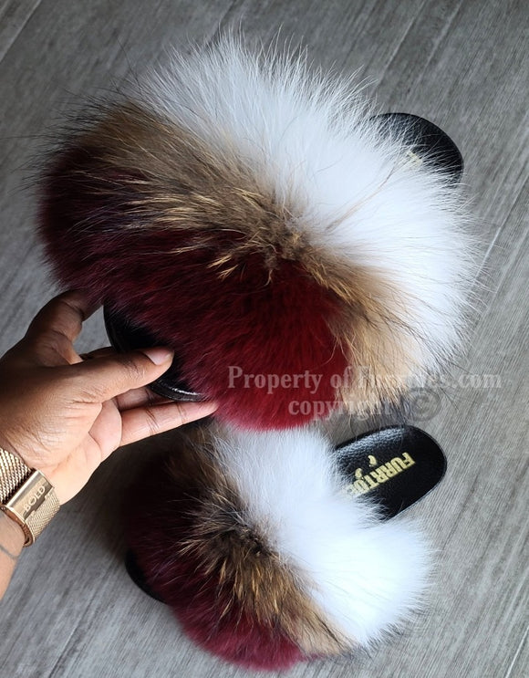 BURGUNDY FLUFFY MIX