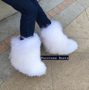 Women's Big Fluffy Boots