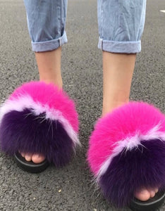 Purple Mix Womens Slippers