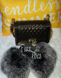 BLACK HANDBAG SET 3