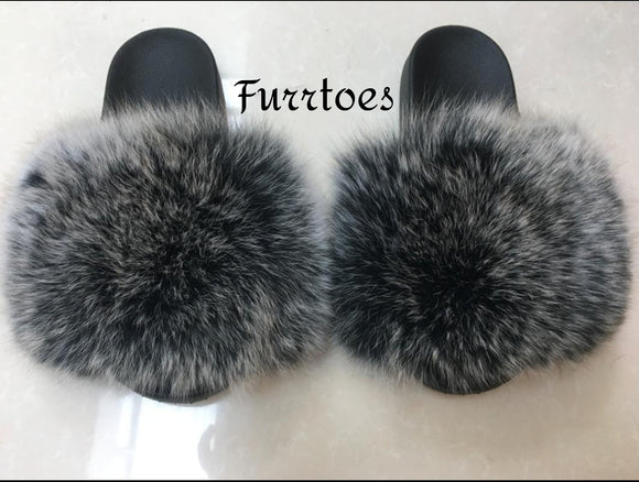 Grey and Black Mix Women's Slippers