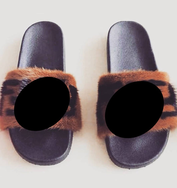 Friendly Feet Mink Fur slippers