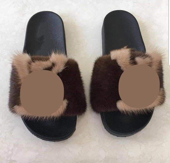 Lovely Mink Fur Slippers