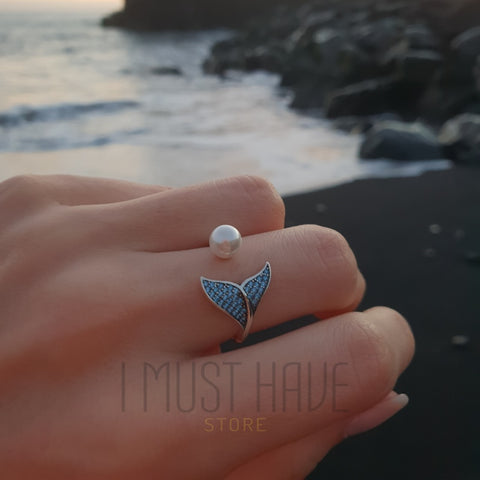 Image of Mermaid Ring 925 Silver