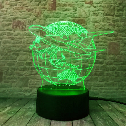 3D Lamp For Travel Lovers